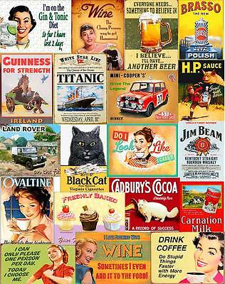 Multi Designs Vintage Retro Wall Signs & Advertisement Metal Wall Sign Plaque L2