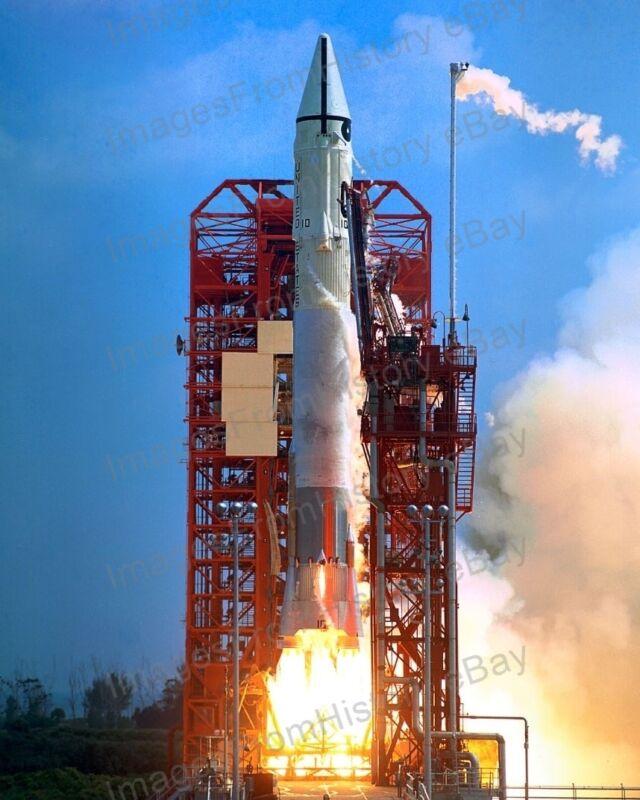 8x10 Print NASA Atlas Centaur 10 Surveyor 1 Spacecraft Pad 36A #AC10