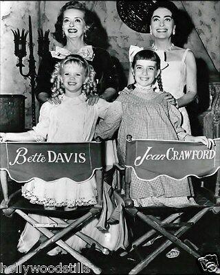 Joan Crawford And Bette Davis With Baby Jane Costars 8X10 Rare Photo