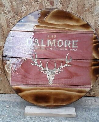 Dalmore Red whisky  malt whisky plaque wooden sign  mancave shed bar pub