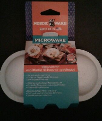 Nordic Ware Microware Egg Poacher with 2 Cavities Nordic Ware Egg Poacher