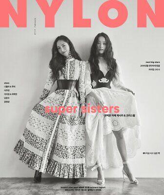NYLON JESSICA KRYSTAL COVER KOREA ISSUE MAGAZINE 2019 JAN JANUARY NEW