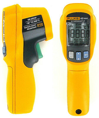New Fluke 62 Max Ir Tough Thermometer With Laser Sight - 3 Metre Drop Proof