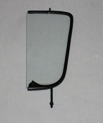Clear Vent Glass Assembled Left Driver 1955 56 57 58 59 Chevy Pickup Black Frame