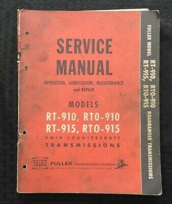 Eaton Gesättigt Roadranger Rt Rto 910 915 Transmission Service Reparaturhandbuch