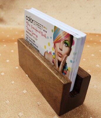 Handmade Wooden Black Walnut Business Card Holder