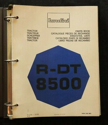 Genuine Landini R-dt 8500 Tractor Parts Catalog Manual Wbinder 260 Pgs Nice
