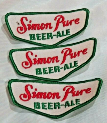 Real Nice Vintage Simon Pure Beer - Ale 3 Sew on Patches