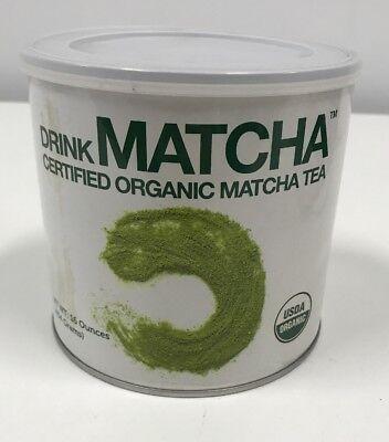 Swig the sea Matcha USDA Certified Organic Green Tea Powder 16oz Gluten Free 9/2018