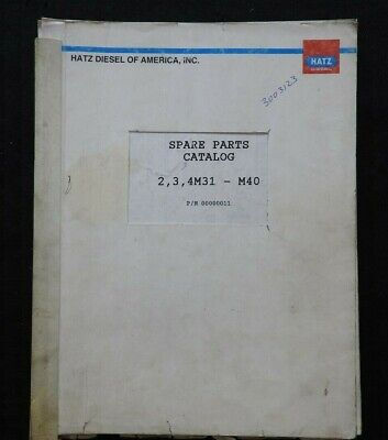 GENUINE HATZ 2M31 3M31 4M31 M40 SERIES DIESEL ENGINE PARTS CATALOG MANUAL