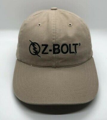 4b230365b4588 Z-Bolt Cap Hat Adjustable Adult 100% Cotton Beige US Flag