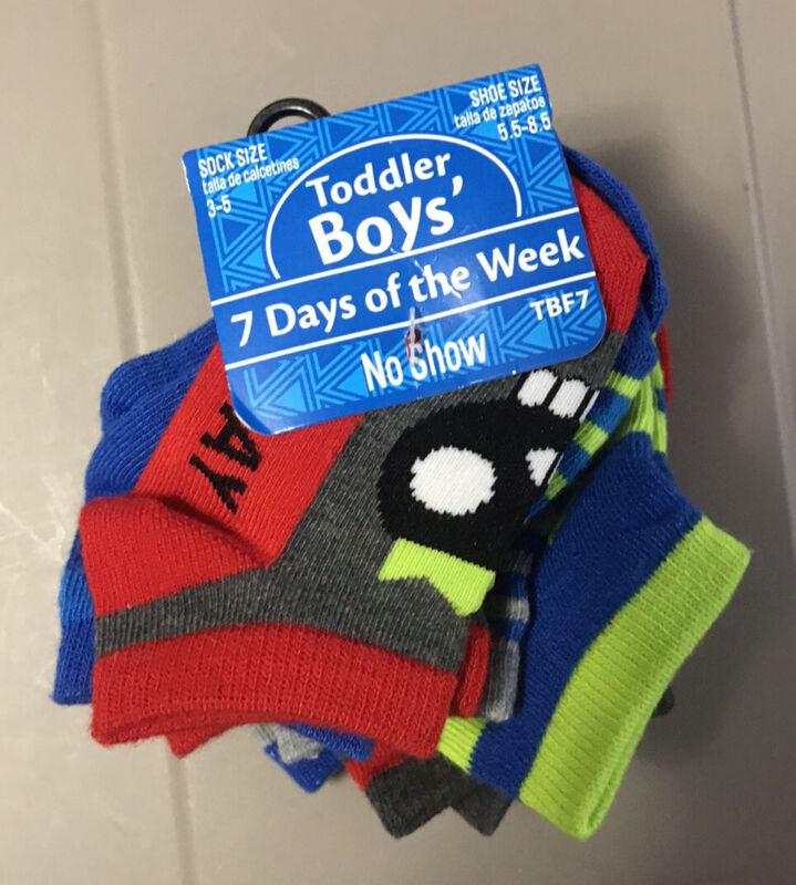 "GBG ""Planet Sox"" Toddler Boys 7-Days Week Socks Size: 3-5 No Show  Loc#A25C"