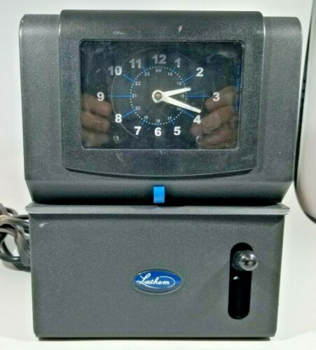 Lathem Manual Time Clock for Day of Week, Hour (1 -12) Minutes Model (2121)