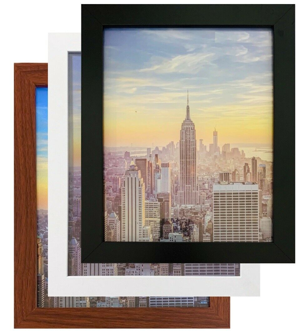 Frame Amo Wood Picture Frames or Poster Frames 1 inch Wide 183 sizes and colors