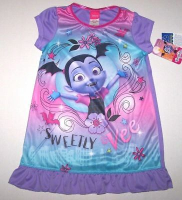 Nwt New Disney Vampirina Ballerina Vee Nightgown Pajamas Vampire Purple Girl
