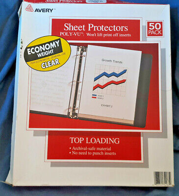 Avery Clear Lightweight Sheet Protectors Top Loading Partial Pkg 30 Pages