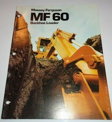 Massey Ferguson Mf 60 Tractor Loader Backhoe Sales Brochure Manual Original
