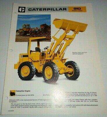 Caterpillar 910 Wheel Loader Specifications Sales Brochure Original Cat 1981