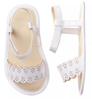 Gymboree Easter Nwt Dressed Up Shop White Sandals Crib Shoes Baby Girls 0-3 - Girls White Easter Shoes