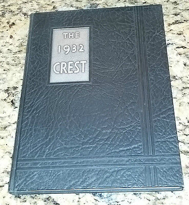 1932 Peoria High School The Crest Peoria Illinois Yearbook