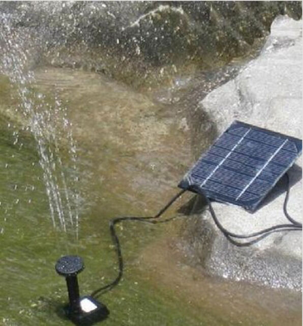 Solar Powered Fountain Submersible Water Pump Kit W/ Panel Garden Decor watering