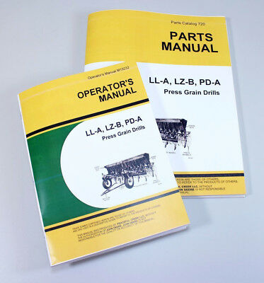 Operators Parts Manuals For John Deere Ll246a Ll207a Press Grain Drill Catalog