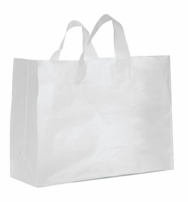 Clear Bags Plastic 250 Retail Merchandise Shopping Frosted Frosty 16 X 6 X 12