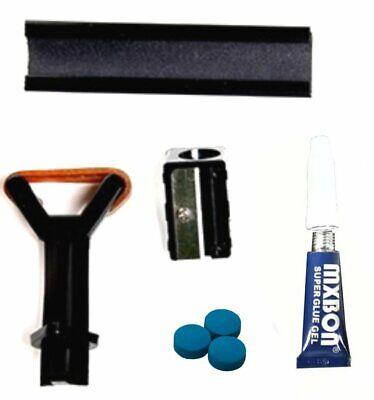 Snooker - Pool Cue Tip Repair Kit Essentials