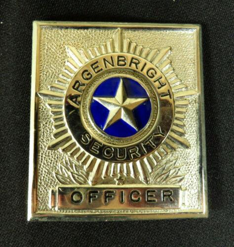 Vintage Argenbright Security Badge Silver Shield Guard Officer