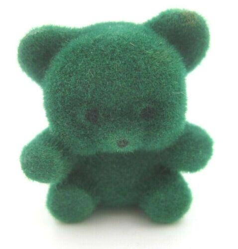 "VTG Miniature Green Dollhouse Teddy Bear Figure Height = 1""  (D4)"