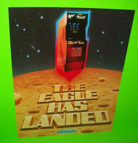 Centuri Eagle Arcade FLYER Original NOS Video Game Promo Artwork Sheet 1980