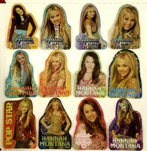 Hannah Montana Stickers / Decals FULL SET OF 12 NEW vending Miley Cyrus Disney