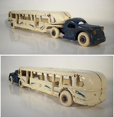 Arcade Vintage Iron Toy Greyhound Lines GMC Bus 30er Jh