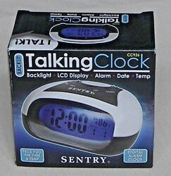 SENTRY TALKING ALARM CLOCK - DATE, TIME, TEMP - LCD DISPLAY & BACKLIGHT  NEW