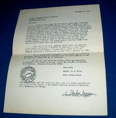 4-page Dianetics advertising flyer & Auditor Application c1951 L. Ron Hubbard