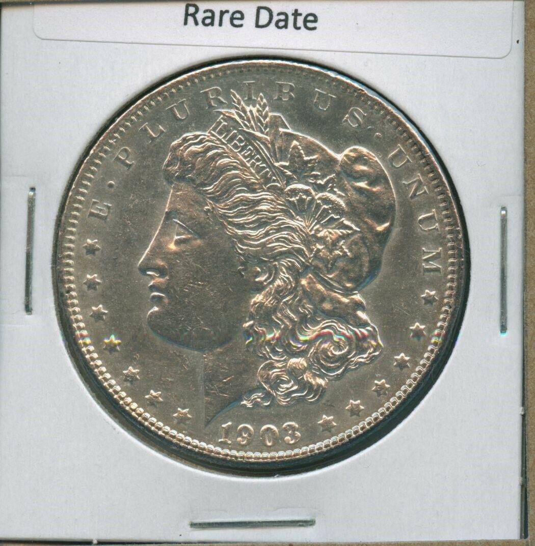 1903 P Morgan Dollar 1 US Mint Better Date Silver US Mint Coin 1903-P BU MS - $67.95