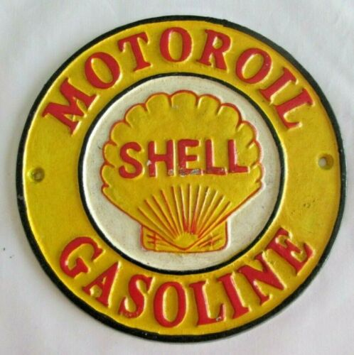 Shell Motor Oil and Gasoline Cast Iron Sign