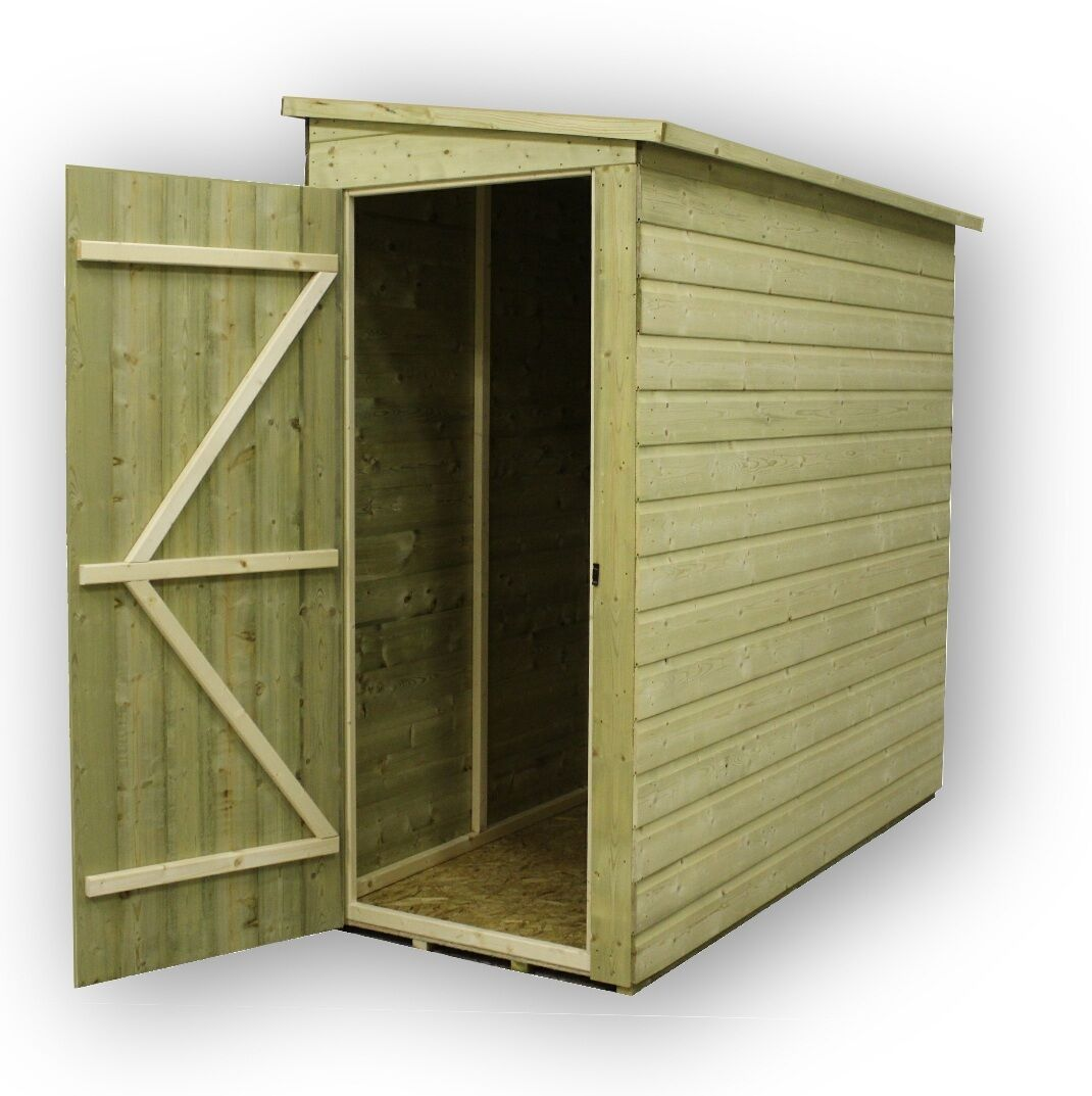 garden shed 5x3 shiplap pent pressure treated tongue groove no window door right - Garden Sheds With Windows