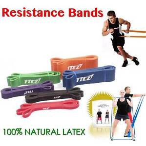 SET OF 3 POWER RESISTANCE BANDS FOR YOGA FITNESS HEAVY DUTY BAND Wangara Wanneroo Area Preview