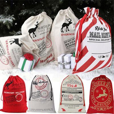 Large Christmas Bags (Christmas Sacks Santa Large Present Bag Gifts Heavy Canvas Gunny Bags)