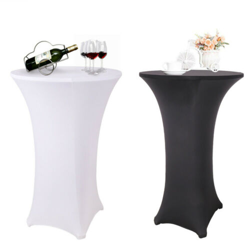 elastic cocktail round fitted stretch spandex table