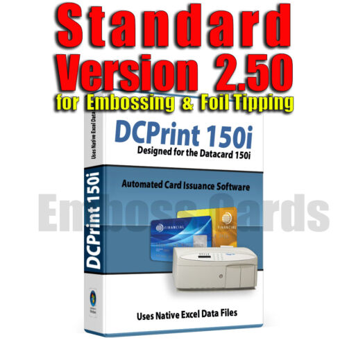 DCPrint STANDARD Card Software DATACARD 150i  275 280 295 430 450