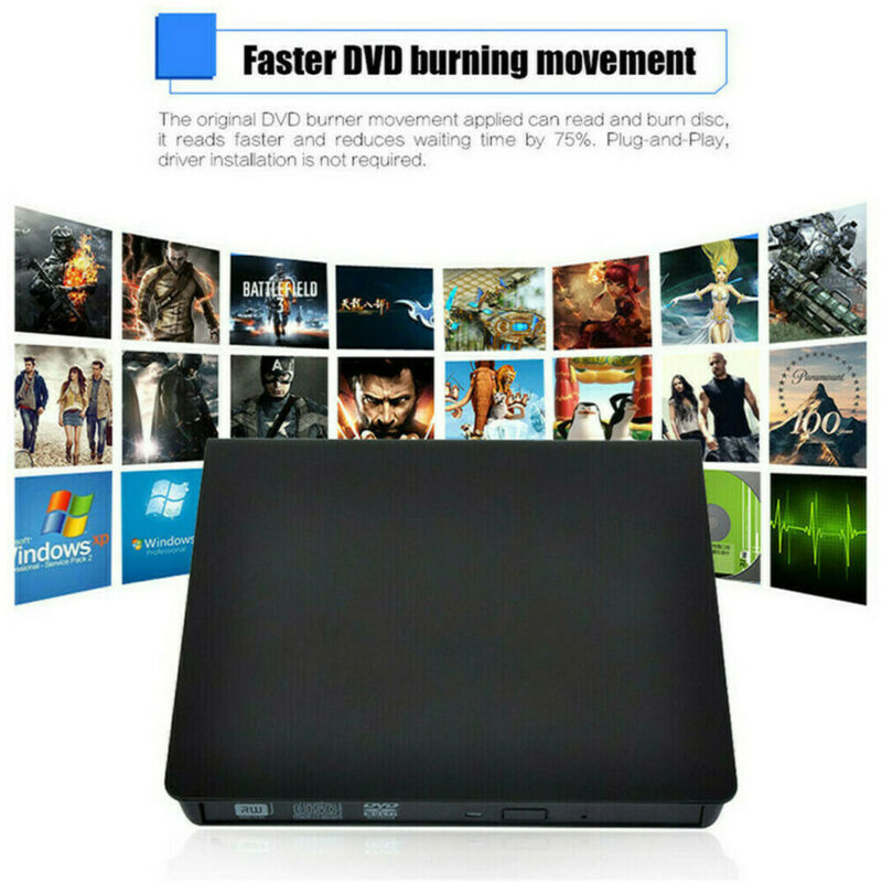 Drives External CD-RW Writer Optical Burner DVD Player ROM CD Reader Drive Case