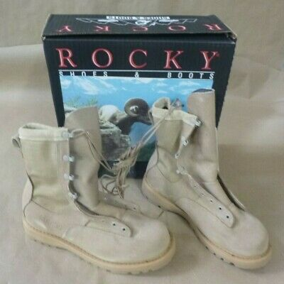 ROCKY 790G ACU TEMPERATE WEATHER DESERT TAN GORE-TEX LEATHER COMBAT BOOTS ()