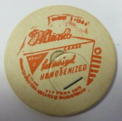 "Vtg Milk Bottle Cap 1 & 5/8"" HILAND'S DAIRY Grade A Homogenized Pasteurized"