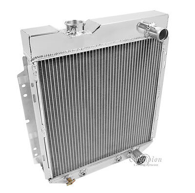 1964 1965 1966 Ford Mustang Champion Cooling DR 2 Row Core Aluminum Radiator