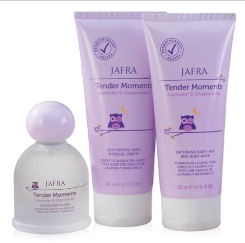 Jafra Tender Moments Lavender & Chamomile (3 Pieces Set) Cologne+Cream+Body Wash