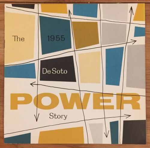 The 1955 DeSoto Power Story automobile advertising brochure booklet