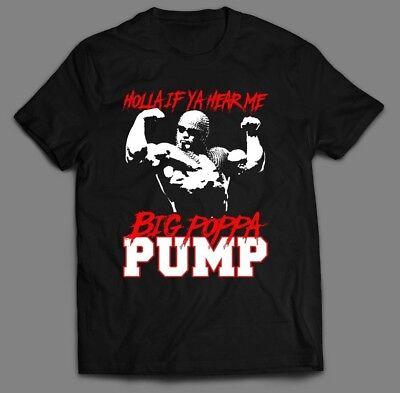 Wcw Scott Steiner Big Poppa Pump  Holla If Ya Hear Me Quality Oldskool T Shirt
