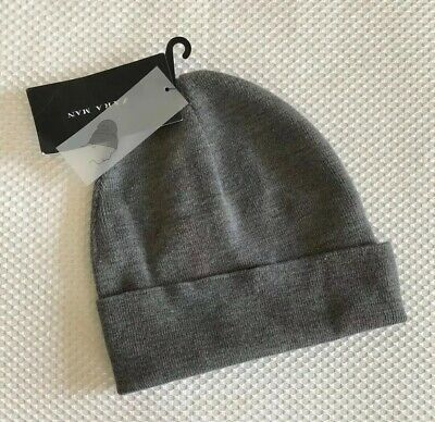 ZARA Fine Knit Hat Gray Size M